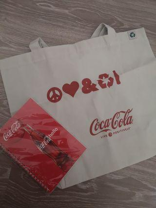 Coca cola Special Edition Recycle Bag and Notebook