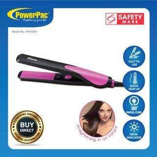 PowerPac Electric Hair Straightener with Quick heat up and neon indicator (PPH5090)