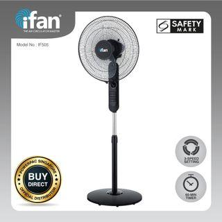 """iFan - PowerPac 16"""" Stand Fan with Air Circulator (IF505)"""