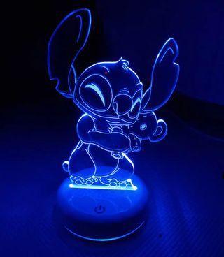 Stitch 3D lamp Acrylic panel 6 colour touch base
