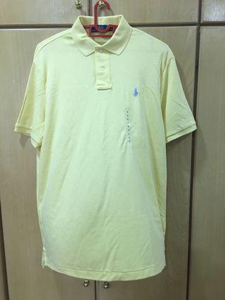 Ralph Lauren Wicket Yellow Polo T Size M