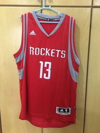 Adidas NBA Houston Rockets James Harden 13 Basketball Jersey