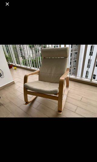 Ikea poang leather rocker