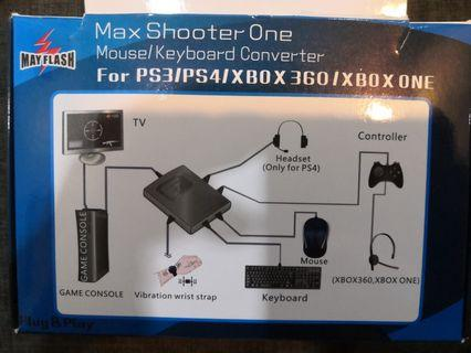 Max Shooter One- Mouse and Keyboard Converter for PS4 AND XBOX