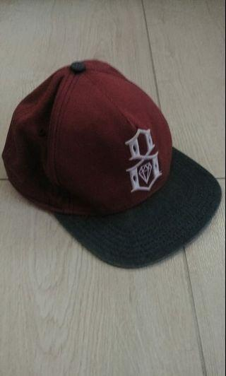 Snapback rebel 8 maroon denim raree