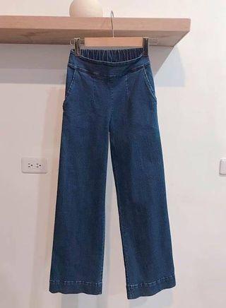 《正韓》牛仔寬褲