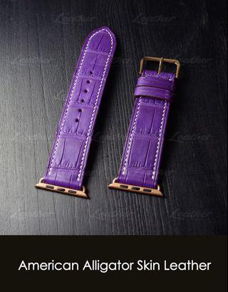Apple watch strap 40mm/44mm (American Alligator Skin Leather)