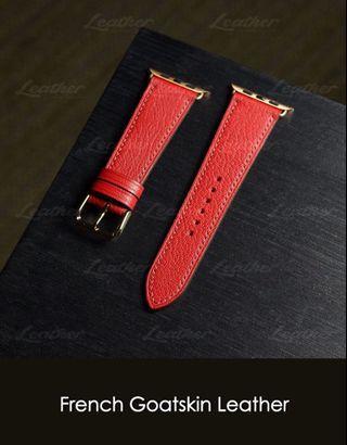Apple watch strap 40mm/44mm (French Goatskin Leather)