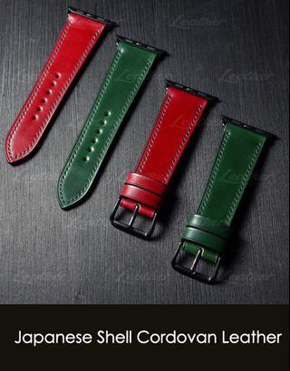 Apple watch strap 40mm/44mm (Japanese Shell Cordovan Leather)