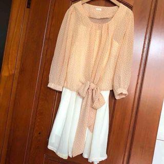 兩件式雪紡套裝裙