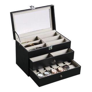Starzdeals - 3 Tier Watch + Spectacles Storage Box