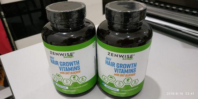 NEW! SEALED & UNOPENED Zenwise Health, Daily Hair growth Vitamins with DHT Blocker, 120 Vegetarian capsules