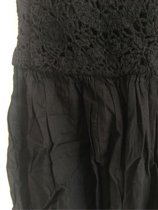 韓國 ASOS maternity 黑色背心勾花 孕婦連身裙(大肚裙 泡泡裙 孕婦裝)(原價$299)