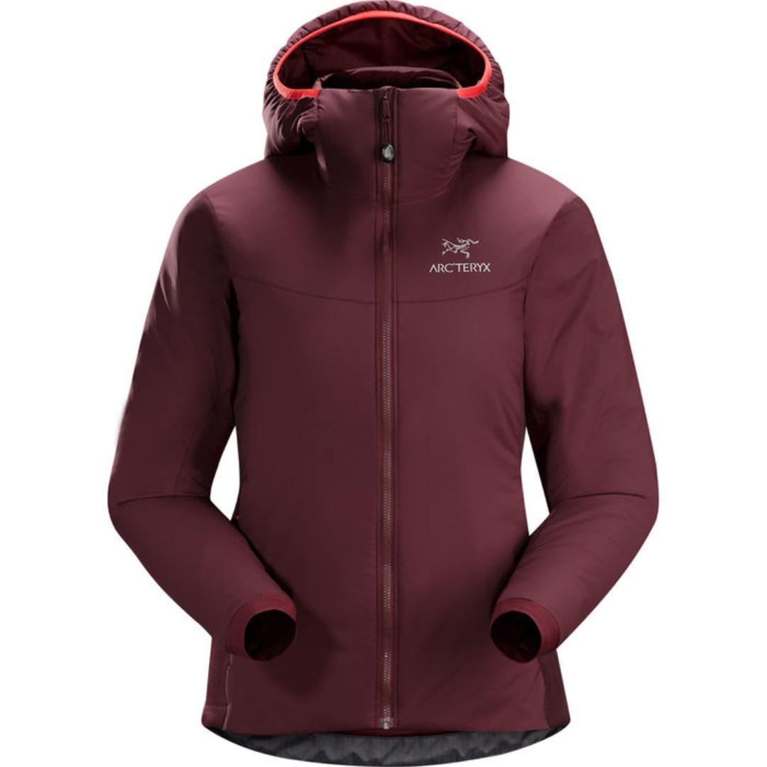 Arc'teryx Women's atom LT hoody jacket, crimson, size small