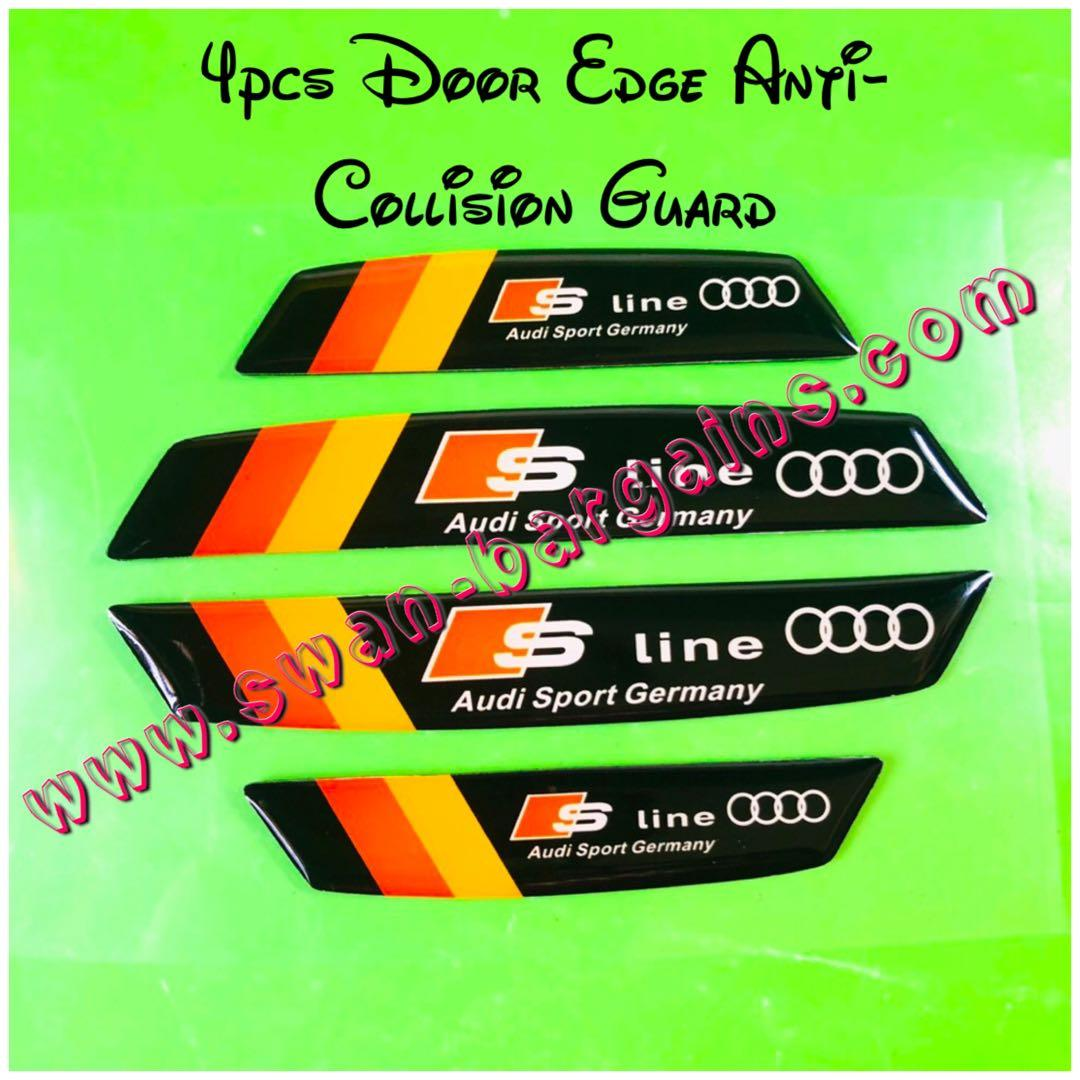 4 S line Black Decal Sticker Car Door Anti Collision Edge Protector All Model A3