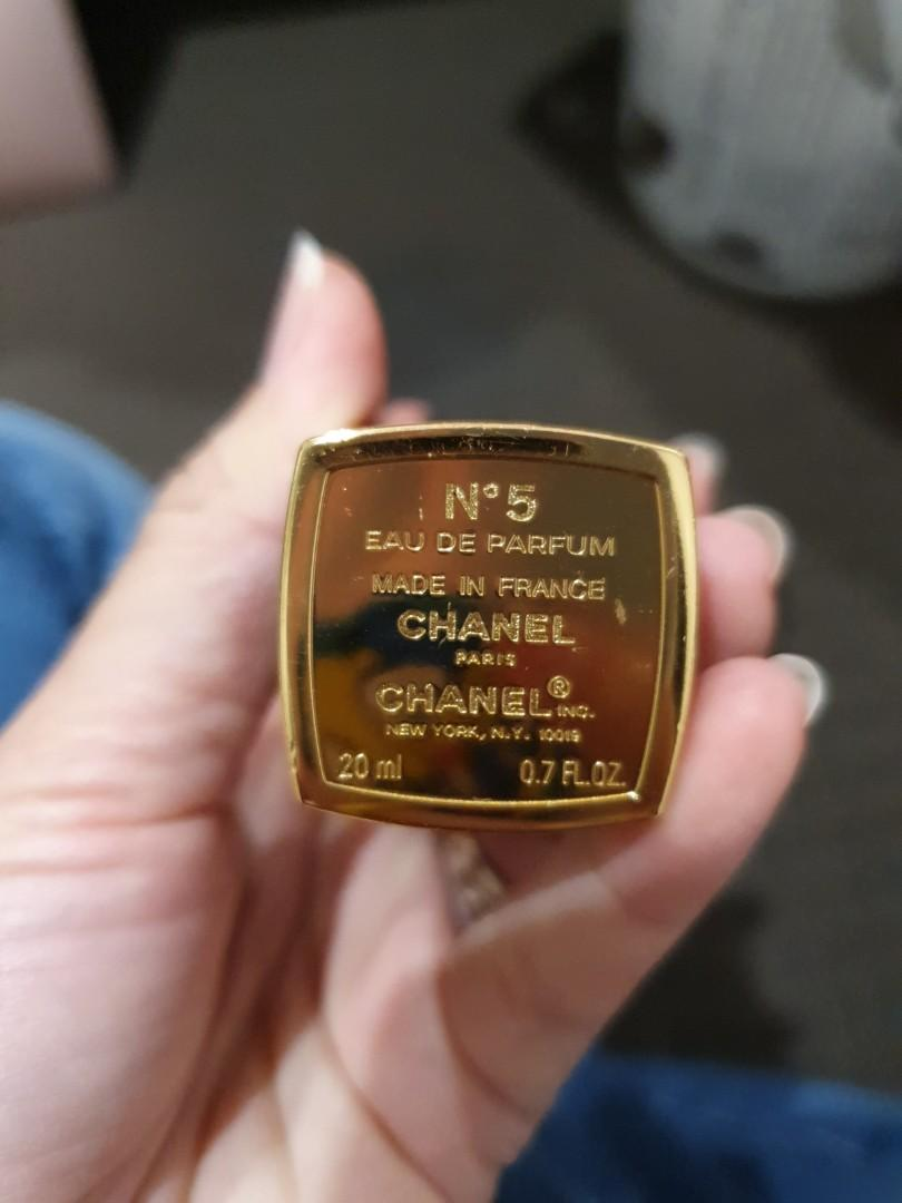 Authentic chanel no 5 farfum + 1 new refil
