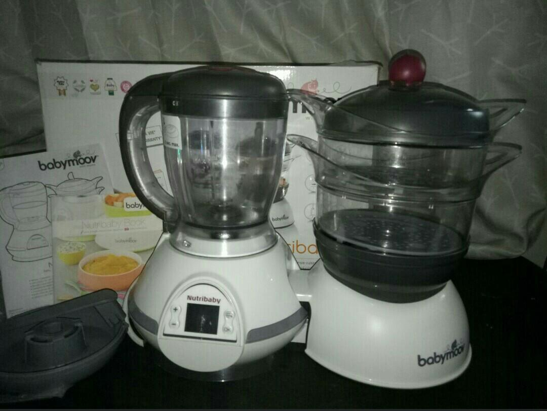 Babymoon nutribaby food processor and steam steril