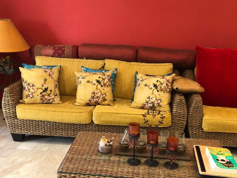 Prime Balinese Couch Set For Sale Furniture Sofas On Carousell Machost Co Dining Chair Design Ideas Machostcouk