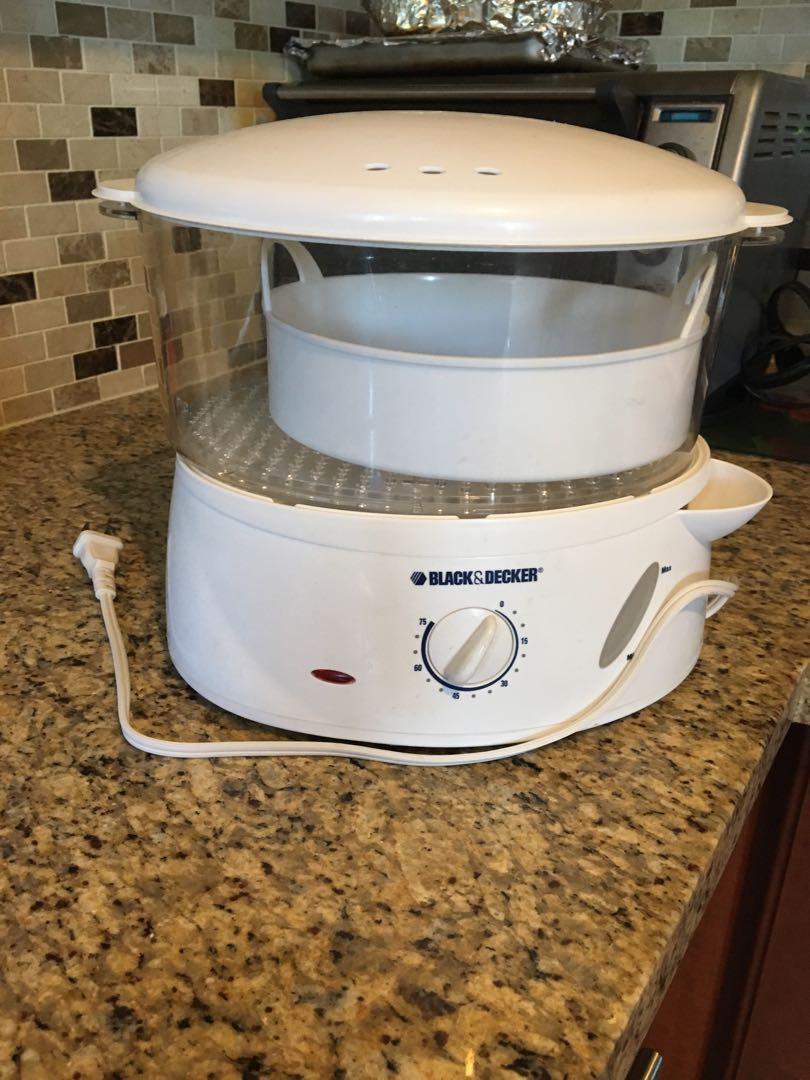 Black & Decker Steamer 4qt. Rice, Vegetables , eggs