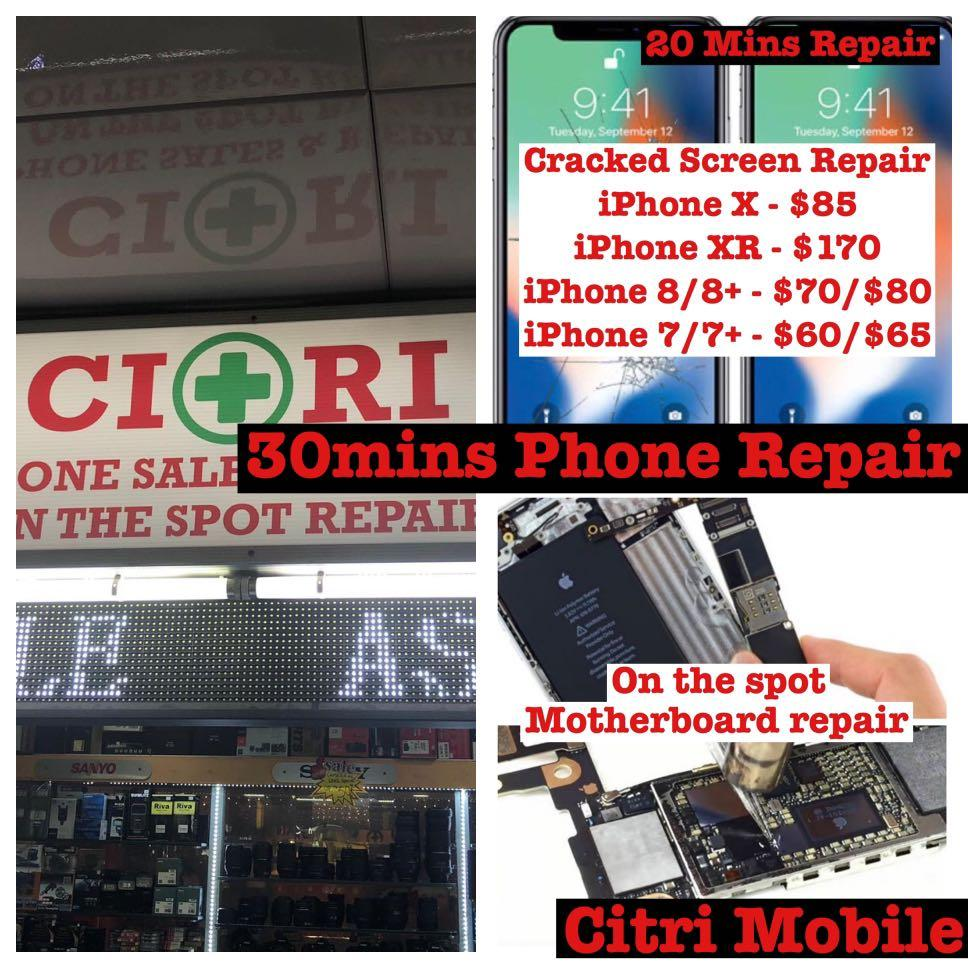 Cheapest 30m Samsung iPhone Phone Battery Repair Replacement