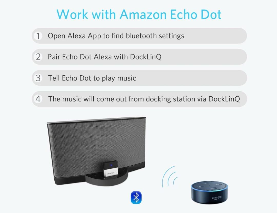 DockLinQ Bluetooth Adapter Receiver Compatible for Bose Sounddock and other 3...
