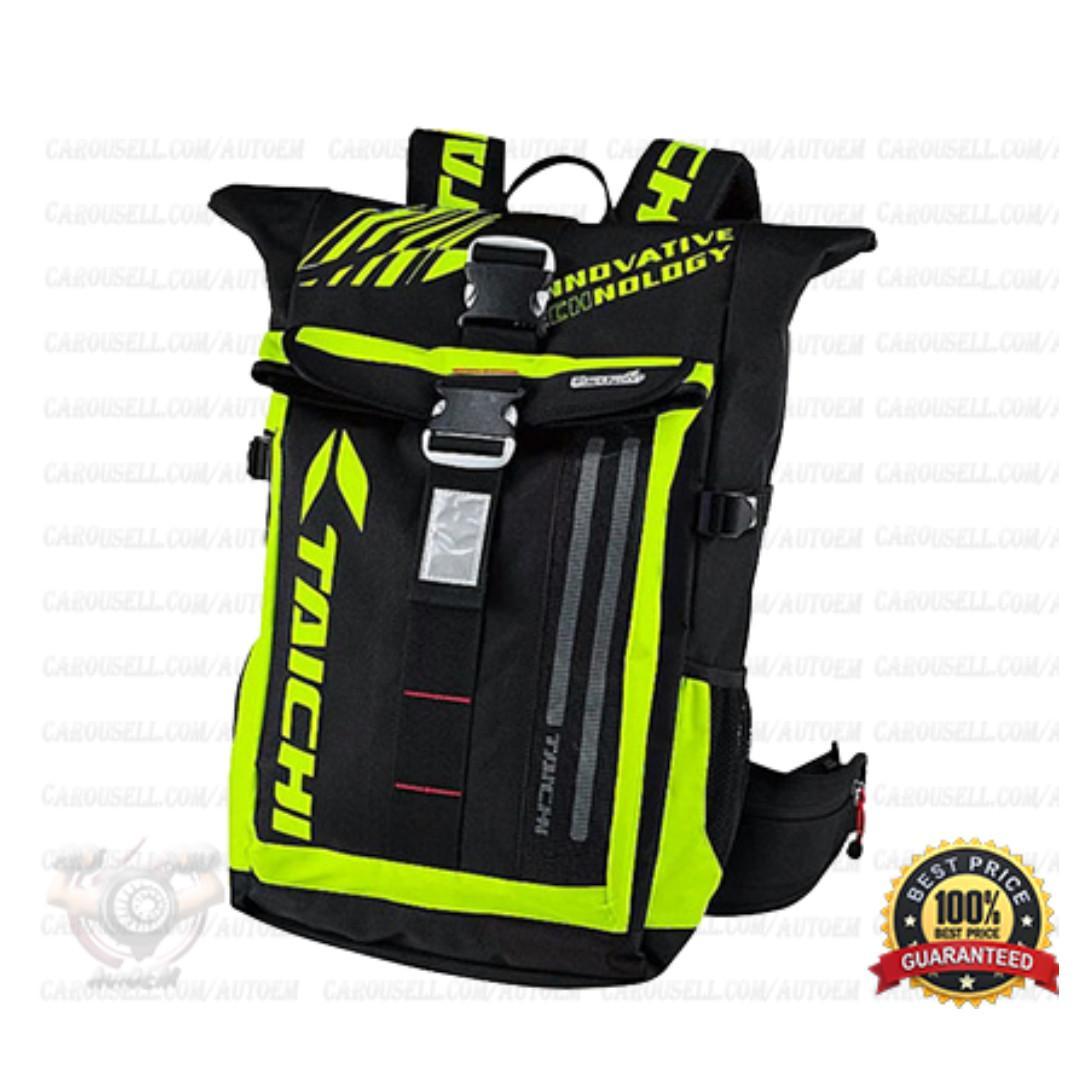 Fiery Red - Taichi Waterproof RSB272 LED Backpack Bag