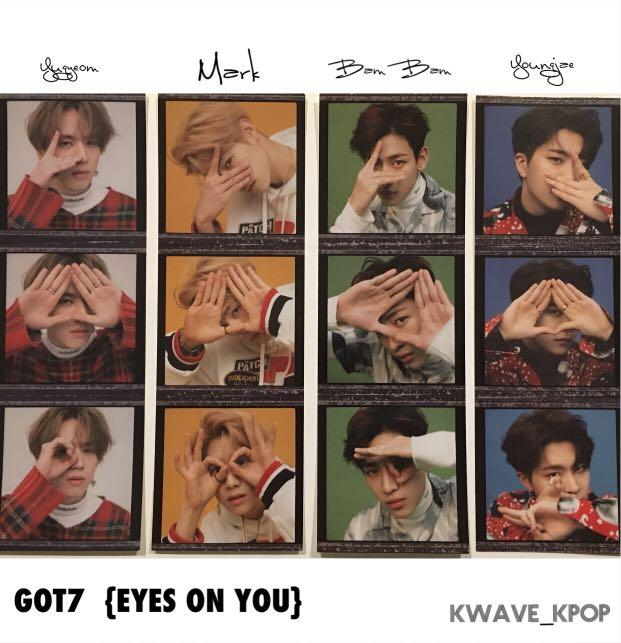 GOT7 갓세븐 [EYES ON YOU] Official 3 Cut Photo Sticker - Select Member! - Free shipping to worldwide
