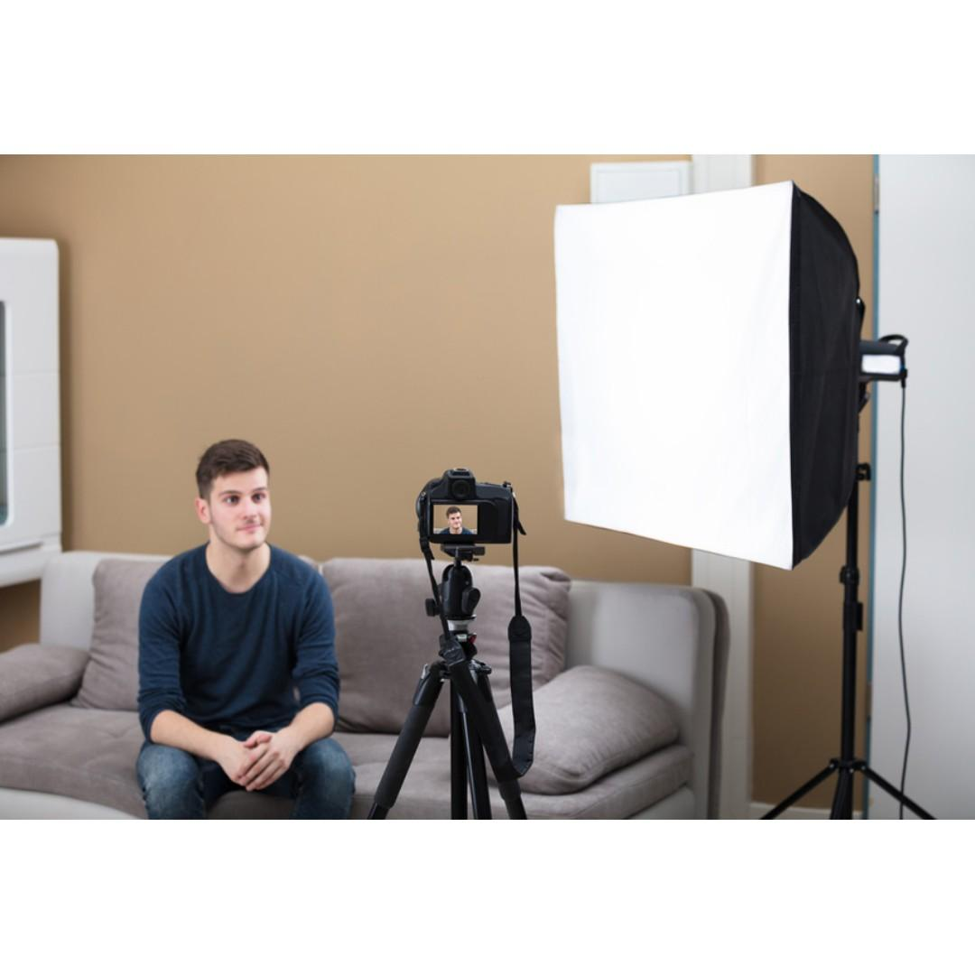 Great Single Light Setup for Video & Photography Shots / BRAND NEW / GTAPhotoStudio . com