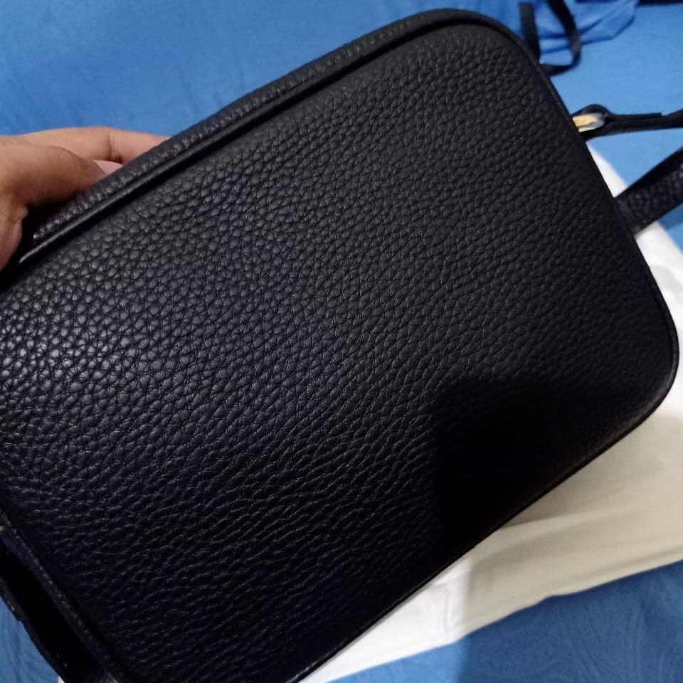 Gucci disco original leather 100% made in italy bahan kulit asli ada nomor seri kulit mulus Like New