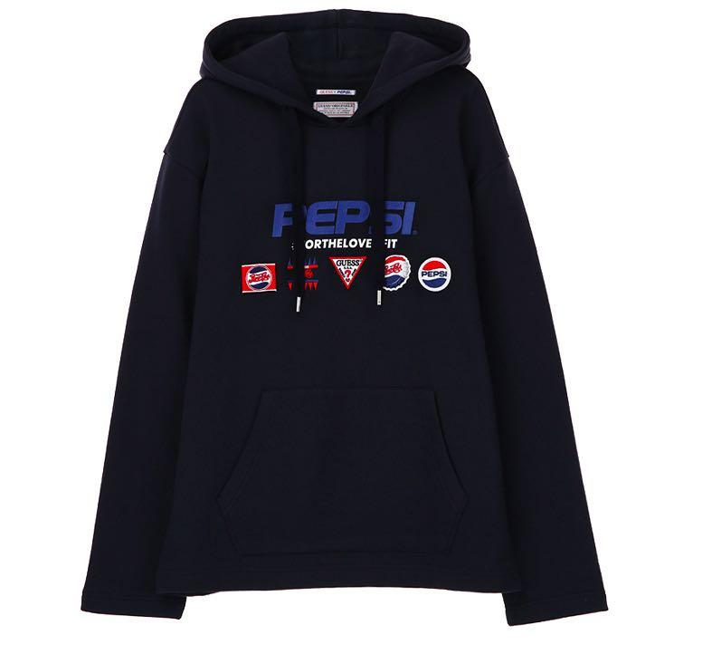 Guess X Pepsi Hoodie Patch Logo Sweater T Shirt