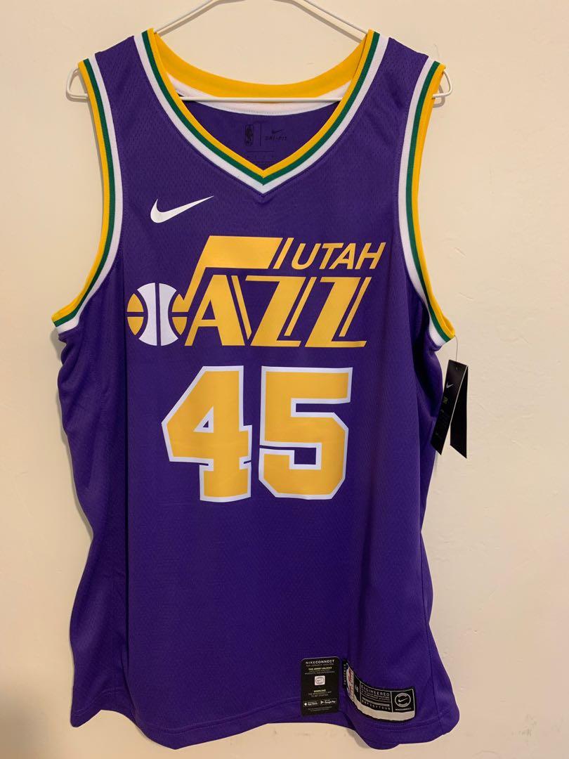 huge selection of a5c28 459f8 NBA Donovan Mitchell Utahn Jazz Nike Hardwood Classics Swingman Jersey