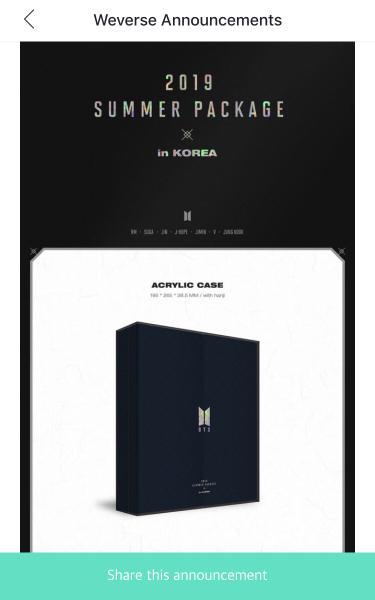 [NON PROFIT] 1 slot BTS Summer Package in Seoul Vol.5 2019