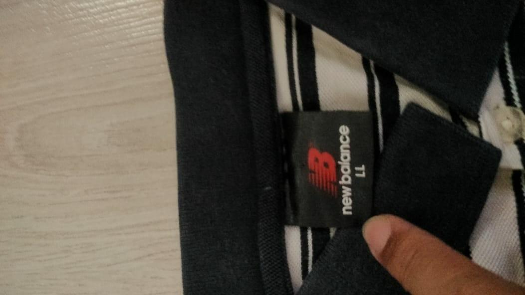 Polo shirt stripes New Balance
