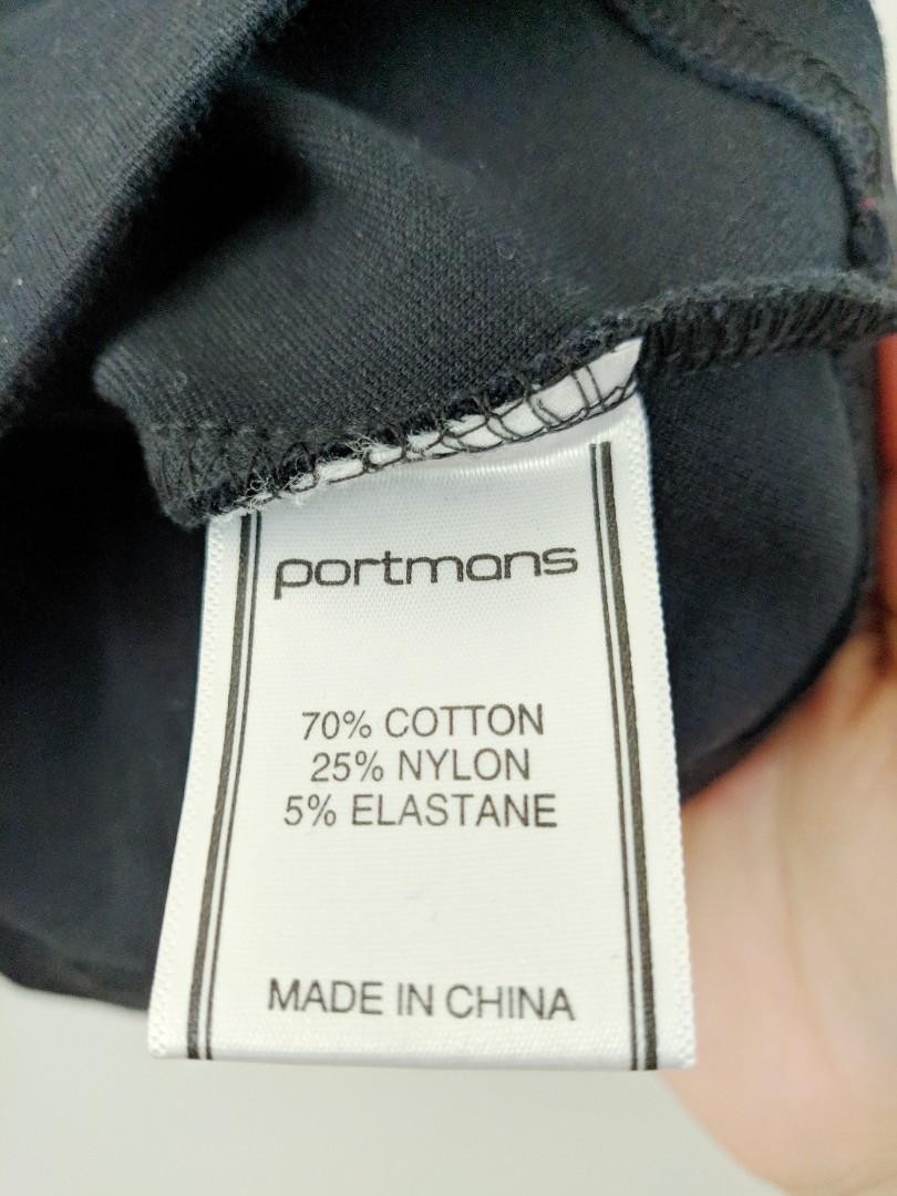 Portmans Black Bandage Look Off the Shoulder Crop Top AU Size XS