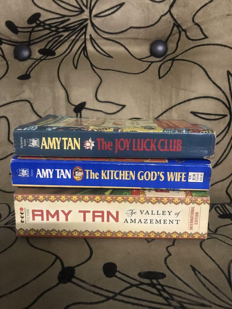 Pre-loved books - Amy Tan bundle (The Valley of Amazement, The Kitchen God's Wife, The Joyluck Club)
