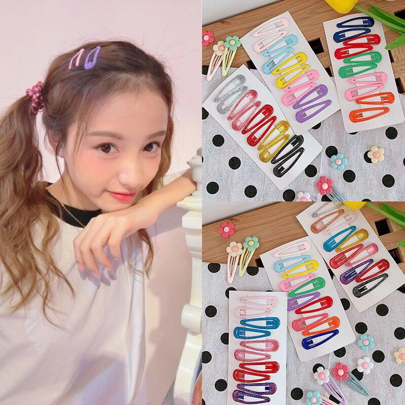 Pin Girls Baby Children Hairpins Hair Accessories Candy Color BB Hair Clips