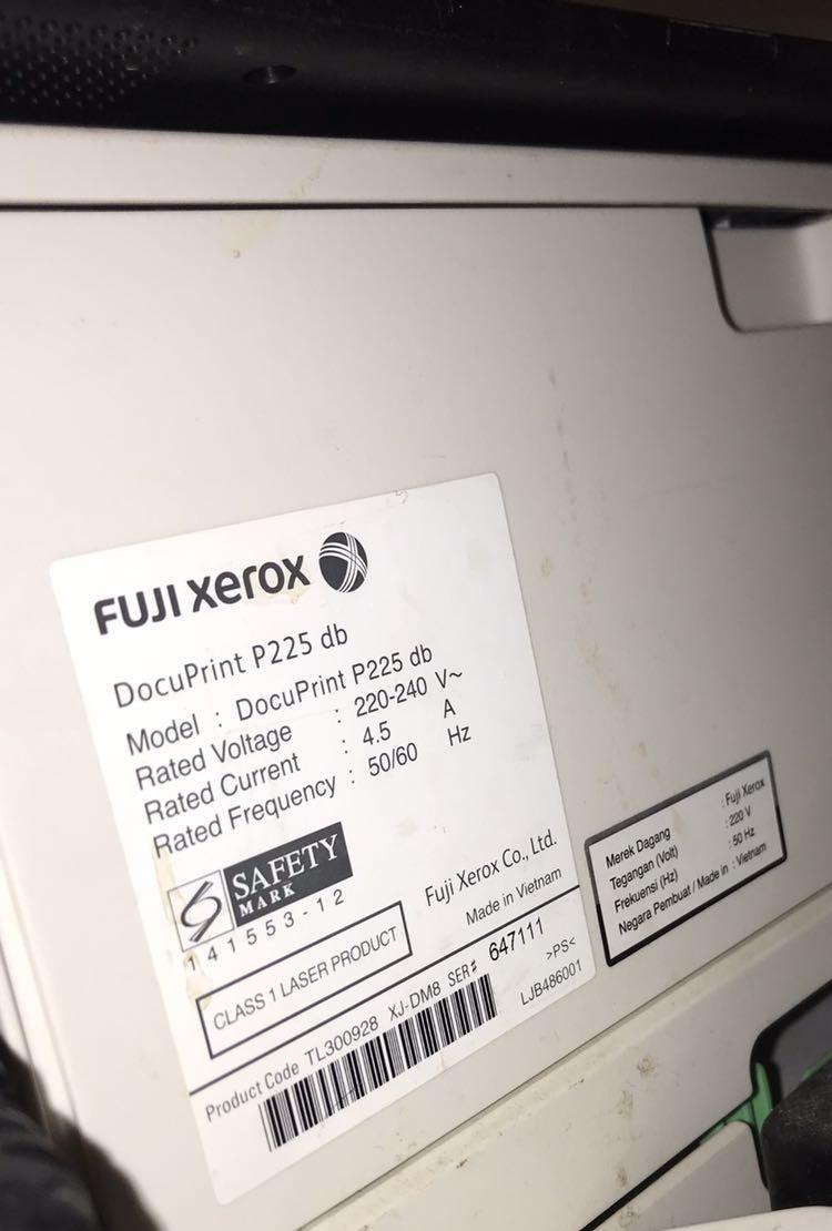 Printer fuji xerox p225db printer