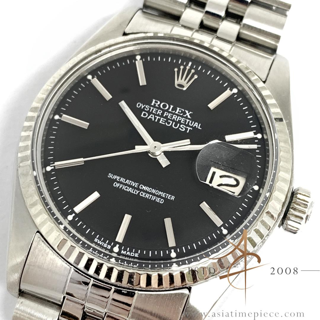 RARE Rolex Datejust White Gold Slate Grey Dial Vintage Watch Ref 1601 (1974)