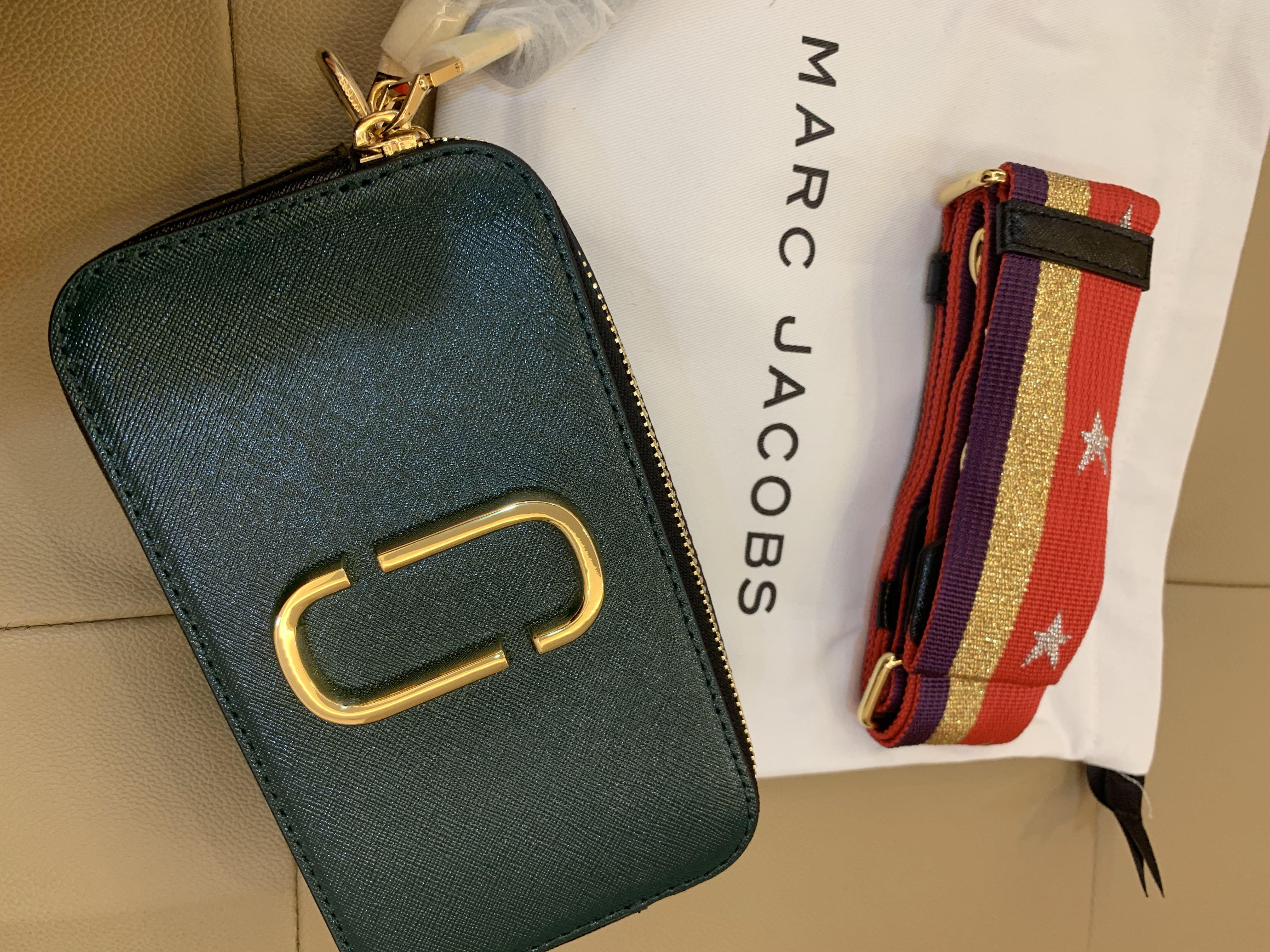 Ready Stock Authentic Marc Jacobs snapshot camera bag green