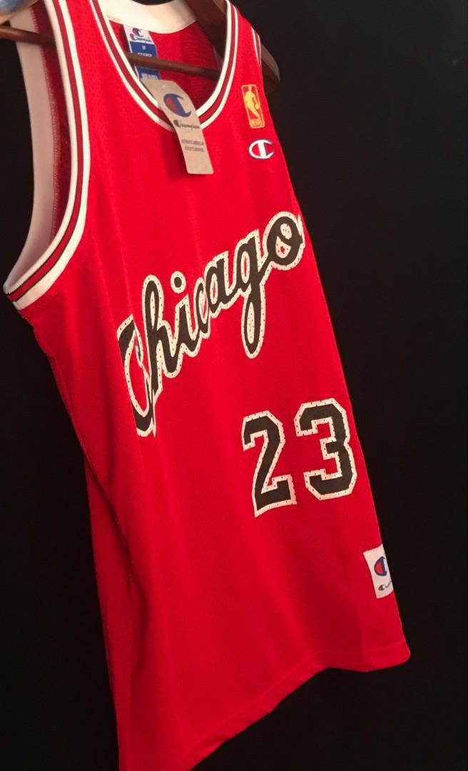 timeless design 1292c 050c6 Throwback Retro Chicago Bulls red Michael Jordan NBA custom ...