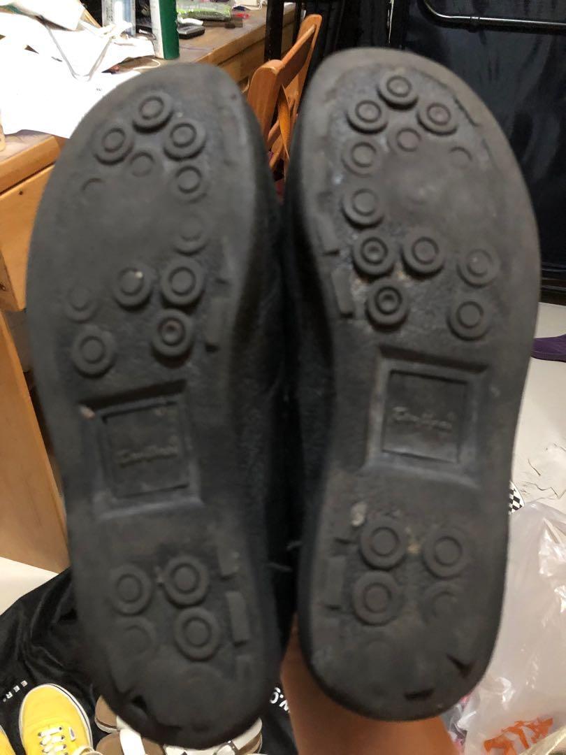 Walker Shop 黑色 返學 皮鞋