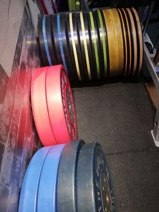 Gym weight plate bumper plate