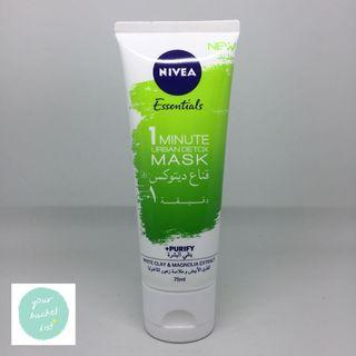 NIVEA Essentials 1 Minute Urban Detox Mask +Purify 75ml