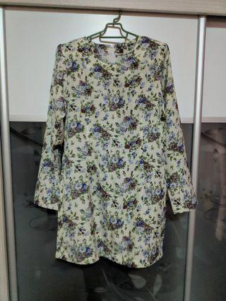Baju Kurung Purple Flower