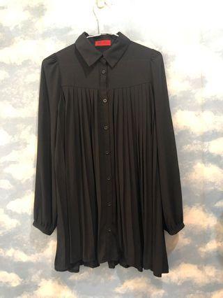 🔥特價出清🔥氣質長版雪紡紗襯衫