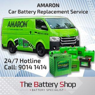 AMARON 24Hr Car Battery Replacement Service in Singapore - Islandwide Service