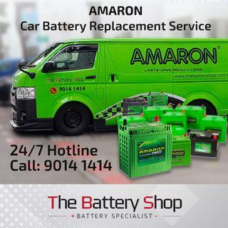 Brand New Amaron Car Battery Service - Car Battery Replacement