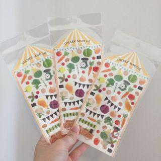 Cute Vegetables Stickers