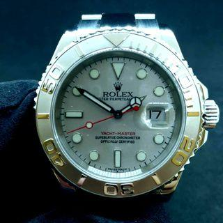 PREOWNED ROLEX YACHT-MASTER, 16622, ROLESIUM, 950 Platinum and Oystersteel, 40mm, F Series @ Year 2004