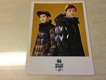 EXO Kolon Sport Polaroid Chanyeol Suho